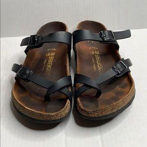 Birkenstock Shoes - Birkenstock   Black   Sandals   Mayari Birko-Flor